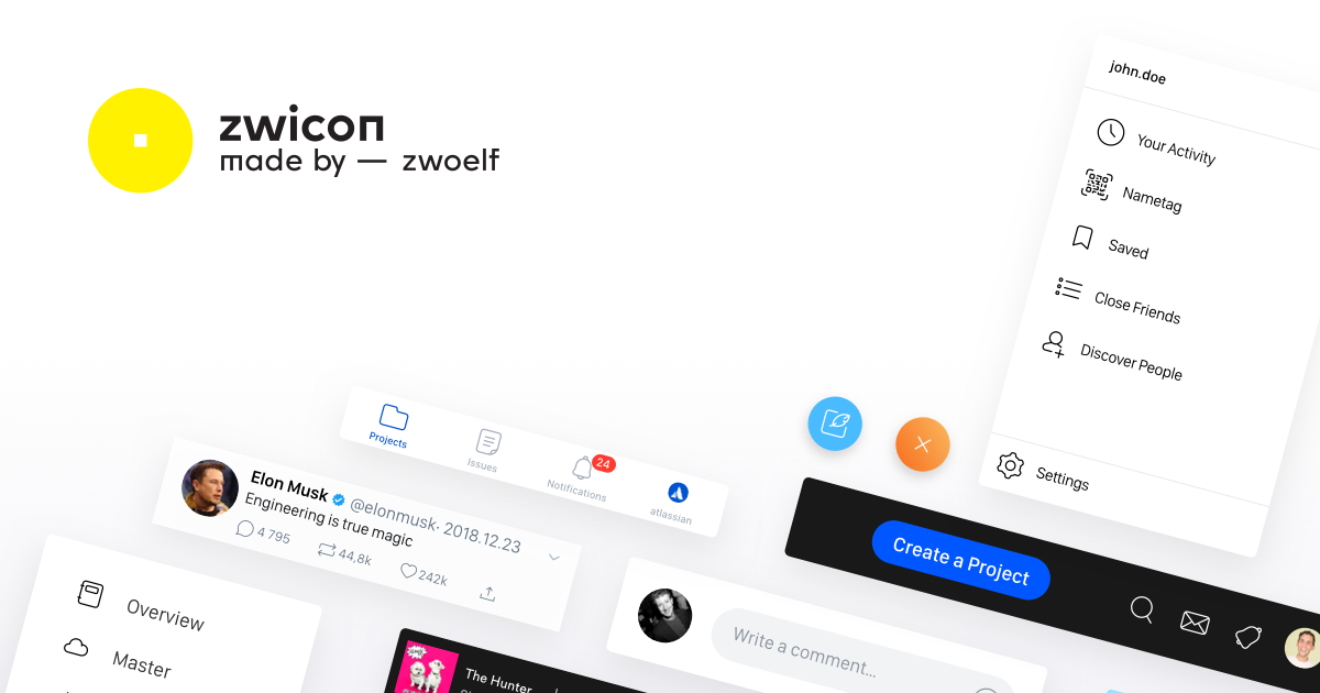 Zwicon – Handcrafted iconset for your next project